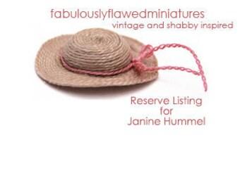 Reserve listing for Janine Hummel