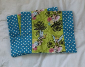 Fairies and Flowers Large Boutique Style Flannel Burp Cloth Set