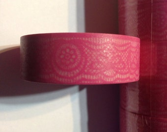 Pink Lace Washi Tape Valentines Day Tape