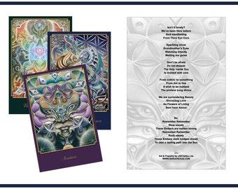 Set of Three - Altar Cards by JAH Ishka Lha