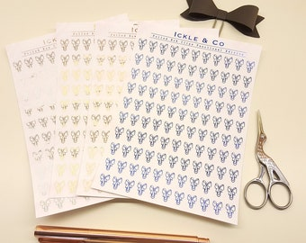 REAL FOIL Bow Clips Planner Stickers Decorative Edition