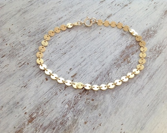 Gold bracelet, delicate bracelet, dainty gold bracelet, simple bracelet, everyday jewelry, holiday gift -21012
