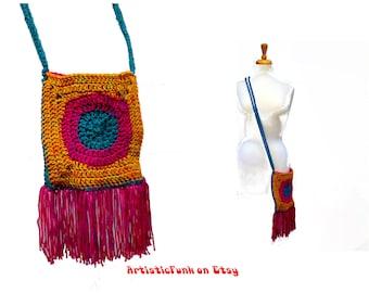 Festival Bag Festival Clothes Crochet Hippie Bag Bohemian Crossbody Electric Forest Sasquatch! Bonnaroo Electric Daisy Carnival Coachella