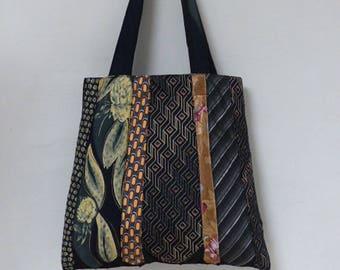 bag ties of silk and polyester
