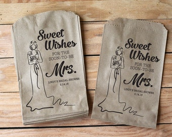 Sweet Wishes Bridal Shower Treat bags