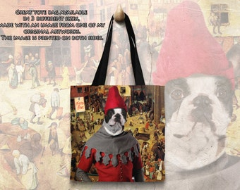 Dog Tote Bag - Boston Terrier Tote Bag - Boston Terrier Art - Boston Terrier Gifts - Boston Terrier