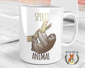 Funny Sloth Mug | Funny Sloth Gift | Spirit Animal | Sloth Coffee Mug | Sloth Spirit Animal Mug | Mug for Lazybones | Lazybones mug | CM-133