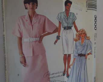 McCalls 3600, size 14-18, misses, womens, teens, blouses and skirts, UNCUT sewing pattern, craft supplies