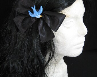Large Black Sparrow Hairbow