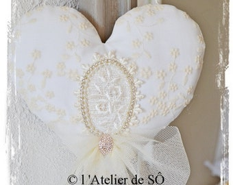 Shabby chic heart and the laces