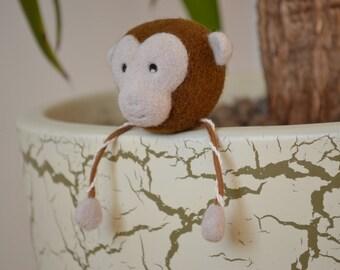 Needle Felted Monkey OOAK