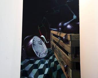 Compass Limited Edition Canvas Art Print, Surrealism