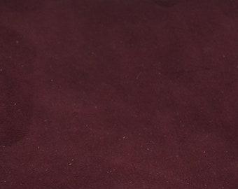 Burgundy velvet lambskin voucher