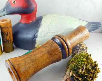 Short Reed Speckled Belly Goose Call in Mesquite with Echo Guts - #310