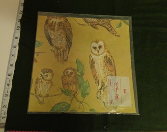 Vintage Wrapping Paper Owls from Red Farm Studios 1 sheet only