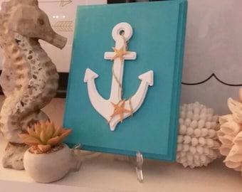 Seaside coastal/beach anchor decor