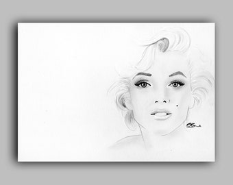 "Marilyn Monroe Print 8"" x 11.5"" (A4) - Paint the Moment"