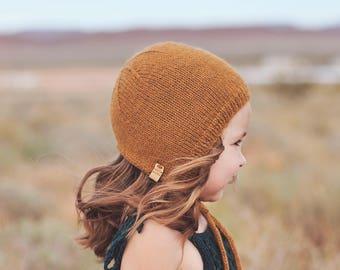 THE ESSENTIAL BONNET, knit bonnet, wool bonnet, toddler bonnet, baby bonnet, baby hats, photo prop, toddler hats, washable wool, crochet