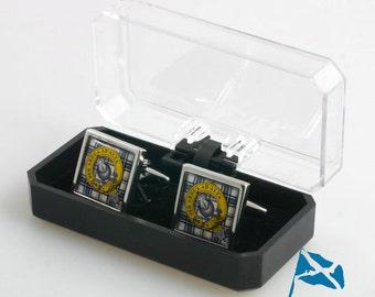 Clan Crest Cufflinks in Economy Box