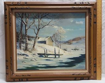 "R. RHORER Original Oil on Canvas Ornate Frame 27"" x 31"""