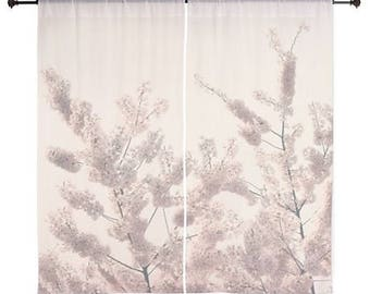 Sheer Curtains - Home Decor, Tree Branches, Bloom, Blossoms, Spring, nature photography by RDelean Designs