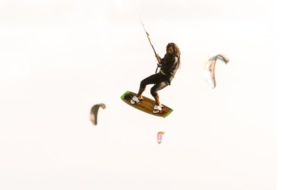 FLYING. Kitesurfing Print, Tarifa, Watersports Picture, Spain, Action Print, Photographic Print
