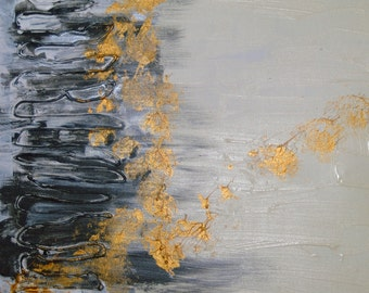"""Acrylic painting """"Black and gold"""""""
