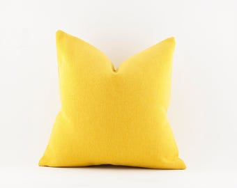 Yellow Wool Pillow 12x18, 18x18 and 20x20