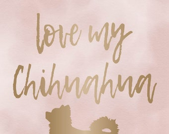 I Love My Chihuahua - long coat - Print