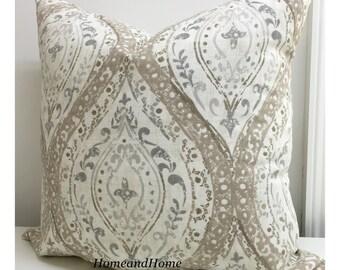 Pillow cover Zipper Closure Ogee pillow cover Ariana Spa Linen Pillow Cover Decorative throw pillow covers 12x16 16x16 18x18 20x20 24x24