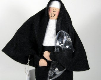 "Nun Doll Catholic gift ""Sisterella""--The good sister who had to do all the work"