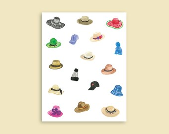 Hats A2 Greeting Card