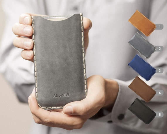Fairphone 2 Case Cover. ENGRAVE YOUR Name Genuine Waxed Real Leather Sleeve. Rough Vintage Style Pouch Shell