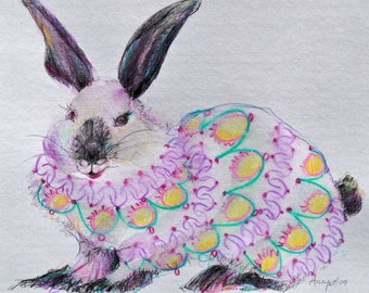 Easter Bunny Greeting Card