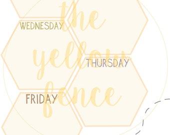 Honeycomb-Wochenplaner