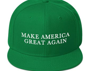 Green Make America Great Again Donald Trump St Patricks Day Hat With Irish Shamrock