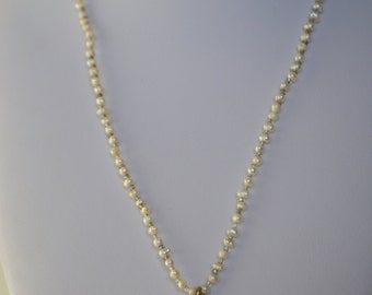 Vintage Coldwater Creek Genuine Cultured Pearl Sunflower Pendant Necklace