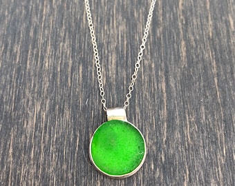 Bright Green Reign Drop Necklace