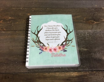 """Life of Grace Bible Study Journal """"Antlers & Flowers"""""""