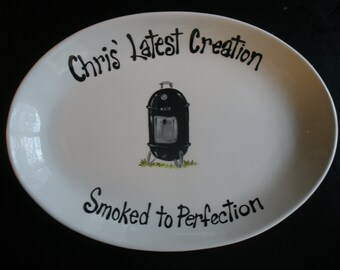 Personalized BBQ Grill Platter for Dad, Uncle, Grandpa or any Special Chef - - Great Fathers Day Gift