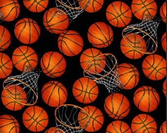 Basketball cotton fabric from Timeless Treasures SPORT-C5814