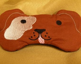 Embroidered Eye Mask for Sleeping, Cute Sleep Mask for Kids or Adults, Sleep Blindfold, Eye Shade, Slumber Mask, Puppy Dog Design, Handmade