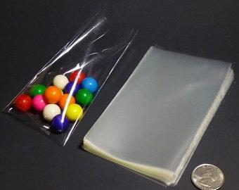 "Clear Polypropylene 'Cellophane' Favor Treat Candy Bags 3 x 5"""
