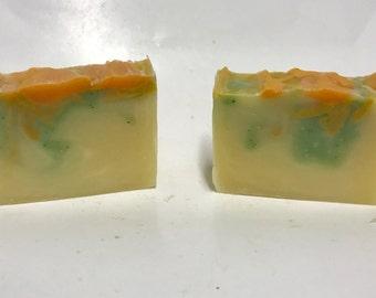 Artisan soap - soap - Mango scented soap - handmade - Mango Sorbet - Tropical Scented - cold process soap - handmade artistic soap - mango