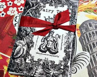 Illustrations de contes de fée Zine Antique Minies sirènes noir & blanc gravures de stylo + encre Art zine Miniature Art Coloriages