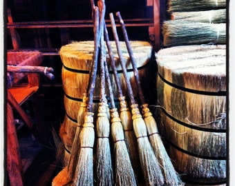 Small Witch's Broom in your choice of Natural, Black, Rust or Mixed Broomcorn - Kids Broom - Miniature Witch's Broom