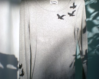 MEDIUM Divergent Raven Tris Shirt Made-to-order