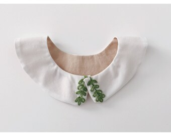 Embroidered collar, Peter Pan collar, baby collar, baby accessory collar