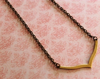 Modern Chevron Brass Necklace, simple and beautiful!