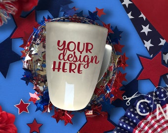 Mockup, Mug, Cup, Coffee, Styled, July, Patriotic, Summer, Craft Mockup, Mockup Design, Svg Mockup, Mockup for Svg, Jpeg, Mock up, Vinyl